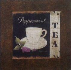 Chá Menta - São produzidas em Mdf Betumizado,cortados levemente irregulares com imagem envelhecida. Acompanha a fita Fixa Forte.  https://www.coisasdelolla.com