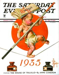 Baby New Year Balances the Budget by JC Leyendecker | The Saturday ...