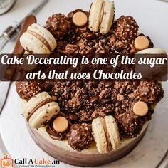 cake #decorating is one of the sugar #arts that uses #chocolate #callacake.in