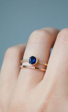 18k Gold has a rich warm glow. Ethical Montana Sapphire Ring in 18k Recycled Yellow Gold