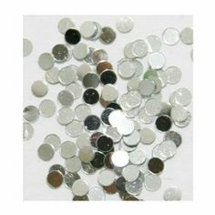 Zink Color Nail Art Spangles Round Dot Silver 100Pc.Cell Phone Embellishment by Zink Color. $0.99. Color: Silver. Size: 3 x 3 mm. Great for any kind of embellishment. 100pc high quality nail art. Create your own individualized nail art decoration. Zink ColorNail Art Collection  3D SpanglesSilver Round Dot100piecesApproximately 3x3 mm