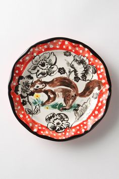 Whimsical squirrel plate. Yes, please.