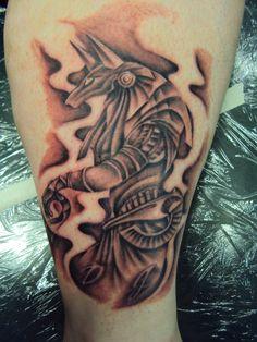 Grey Ink Anubis Tattoo On Leg by Crowcnil Rose Tattoos, Leg Tattoos, Smoke Tattoo, Anubis Tattoo, Tattoo Background, Most Popular Tattoos, Tattoos Gallery, Tattoos For Women, Tattoo Designs