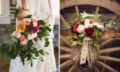 tendência buquê noiva 2015 horizontal geométrico assimétrico irregular via Green Wedding Shoes 5