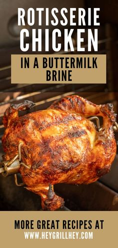 If you've been on the hunt for the best rotisserie chicken recipe, you've come to the right place. I can't recommend this chicken enough. Not only is it relatively inexpensive to purchase a whole fryer chicken at the grocery store, but cooking on a rotisserie brings out all the flavor and juices in the chicken. Bbq Recipes Sides, Best Bbq Recipes, Grilling Recipes, Favorite Recipes, Grilled Chicken Salad, Grilled Chicken Recipes, Grilled Meat, Best Rotisserie Chicken Recipe, Bbq Food For A Crowd