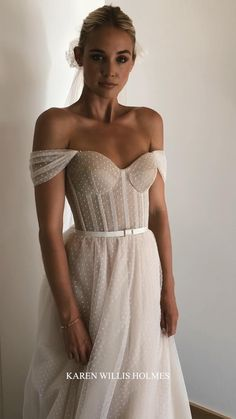 Sheer Wedding Dress, Rustic Wedding Dresses, Dream Wedding Dresses, Wedding Attire, Bridal Dresses, Prom Dresses, Polka Dot Wedding Dress, Romantic Wedding Hair, Wedding Ideas