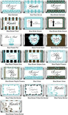 Personalized Tiffany Blue Hershey Miniatures