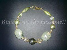 Bracciale con prenite e perle verdi by Bigiotteria che Passione!!