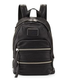 Domo Biker Leather Backpack, Black by MARC by Marc Jacobs at Bergdorf Goodman.