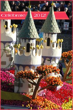 Rose Parade - Tournament of Roses Parade Float - volunteering to decorate floats at the Rose Parade - Rose Parade