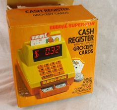 Buddy L Super Fun Cash Register Vintage Toy with Grocery Cards 1981 Complete Box #BuddyL