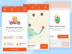 Rent Bike or Scooter App Concept by Mokudo #Design Popular #Dribbble #shots