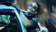 Heath Ledger Canvas Commission by Daniel Nash, via Behance