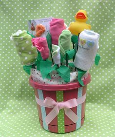 baby gift bouquet