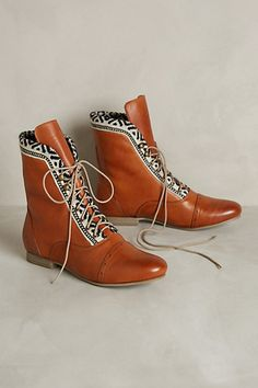 Tapestry Trim Booties - anthropologie.com
