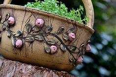 Clay Pots, Potted Plants, Garden Pots, Terracotta, Diy And Crafts, Planter Pots, Mosaic, Lavender, Paintings