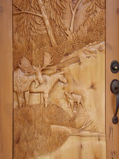 Cabin Doors, Antique Chinese Furniture, Hand Carved, Carved Wood, Unique Doors, Home Improvement Projects, Wood Doors, African Art, Wood Projects