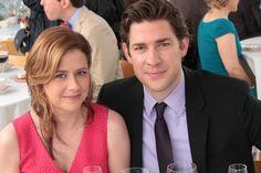 """The Office """"Finale"""" Episode 924/925 -Jenna Fischer as Pam Beesly Halpert, John Krasinski as Jim Halpert"""