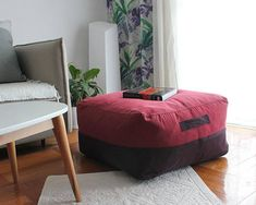 Large Pouf Ottoman Brilliant Rug Ottoman Cover Rug Pouf Large Rug Pillow Killim Ottoman  Soft Design Ideas