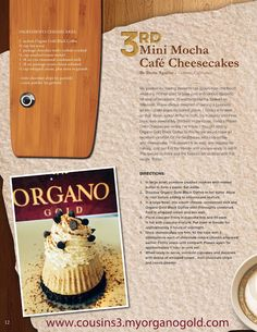 Cooking Ideas With The Organo Gold Family No Bake Desserts, Dessert Recipes, Mocha Recipe, Cookie Crush, Cooking Recipes, Cooking Ideas, Black Coffee, Coffee Recipes, Food Preparation