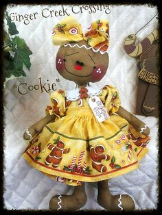 Primitive Raggedy Ann Gingerbread A SWEETIE by GingerCreekCrossing