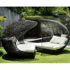 kissen rattanmöbel polyrattan garten ideen modern | gartenmöbel, Terrassen ideen