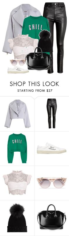 """""""Halsey-Inspired #379"""" by halseys-clothes ❤ liked on Polyvore featuring Zimmermann, H&M, Yves Saint Laurent, Jimmy Choo, M. Miller, Givenchy, halsey, ashleyfrangipane, halseymusic and halseyinspired"""