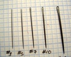 Handmade embroidery needles (looks like they're available here: http://www.jecstore.com/Needles.php)