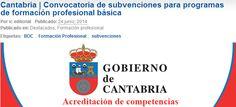 Cantabria | Convocatoria de subvenciones para programas de formación profesional básica