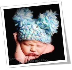 Free baby pom pom hat pattern  Bulky yarn 5.5mm P hook