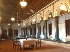 Travels of Wonder and Discovery: A First Look at the historic and seldom-viewed Mansions of Chettinad and The Bangala hotel, a great fin. Chettinad House, Indian Theme, Ethnic Home Decor, Rich Home, Puja Room, Indian Architecture, Courtyard House, South India, Beach Themes