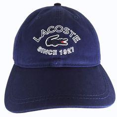 001cdc0a5a1 Lacoste Since 1927 Croc Logo Hat Cap Navy Blue Adjustable Strap RK3969 One  Size  Lacoste