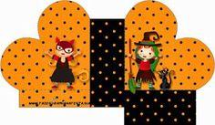 Halloween Menina – Kit Completo com molduras para convites, rótulos para guloseimas, lembrancinhas e imagens! |Fazendo a Nossa Festa