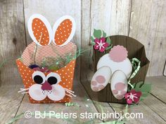 Super Cute Fry Box bunnies for your Easter table!  I have a free tutorial for you to download on my website!   Imagine these boxes done in pink or blue for a baby shower!