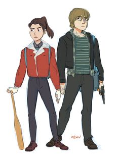 When you and your pal decide to go monster hunting - Nancy Wheeler, Jonathan Byers (Stranger Things) Nancy Stranger Things, Stranger Things Jonathan, Stranger Things Have Happened, Stranger Things Funny, Stranger Things Netflix, Jonathan And Nancy, Jonathan Byers, Monster Hunt, Nancy Wheeler