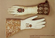 Queen Elizabeth I Coronation gloves ~ Museum of Costume, Bath
