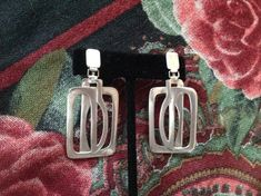 Sterling Modernist Earrings with Screw-back by BlkBttrflyDsgns