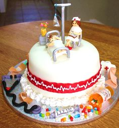 Nurse Cake with Patient and Nurse Topper