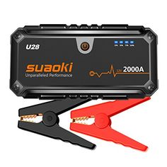 Suaoki U28 2000A Peak Jump Starter Pack (for ALL Gas or 8.0L Diesel Engines) with USB Power Bank, LED Flashlight and Smart Battery Clamps for 12V Car & Boat. For product info go to:  https://www.caraccessoriesonlinemarket.com/suaoki-u28-2000a-peak-jump-starter-pack-for-all-gas-or-8-0l-diesel-engines-with-usb-power-bank-led-flashlight-and-smart-battery-clamps-for-12v-car-boat/