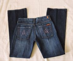 7 For All Mankind Women Pink A Pocket Jeans Size 30 #7ForAllMankind #BootCut