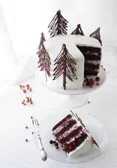 shakeology mug cake Xmas Food, Christmas Cooking, Christmas Desserts, Christmas Treats, Pretty Cakes, Beautiful Cakes, Amazing Cakes, Bolo Floral, Christmas Cake Designs