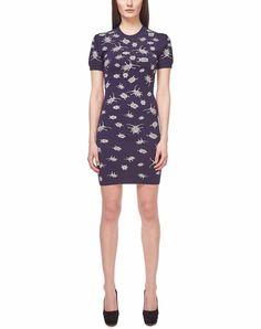 New McQ Alexander McQueen Iconic Bug Pattern Jacquard Knit Dress Blue S WornOnTV #McQAlexanderMcQueen #Casual