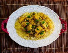 Cómo hacer cuscús marroquí de pollo con Thermomix - Thermomix por el mundo Garam Masala, Flan, Meal Prep, Pasta, Rice, Meals, Cooking, Ethnic Recipes, Curries