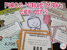 Place value math centers for third graders