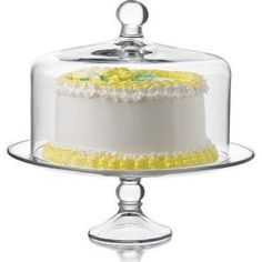 Libbey Selene 2-pc. Cake Dome Set, White