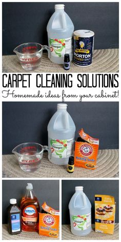 Carpet Cleaning Solutions - from your cabinet! Homemade carpet cleaning solutions that you can find in your cabinet! Most are all natural!Homemade carpet cleaning solutions that you can find in your cabinet! Most are all natural!