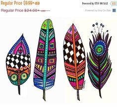50% Off FREE Shipping WORLDWIDE Feather Art by HeatherGallerArt