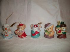 Vintage lot of 5 Hand Painted Porcelain Jasco by ALEXLITTLETHINGS, $46.00