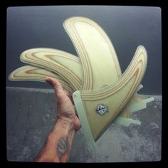 Plywood longboard fin 100% handmade by Neyrafins