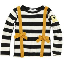 my daughter would rock this -> rykiel enfant braids t-shirt • add any or ribbon to a shirt as suspenders!